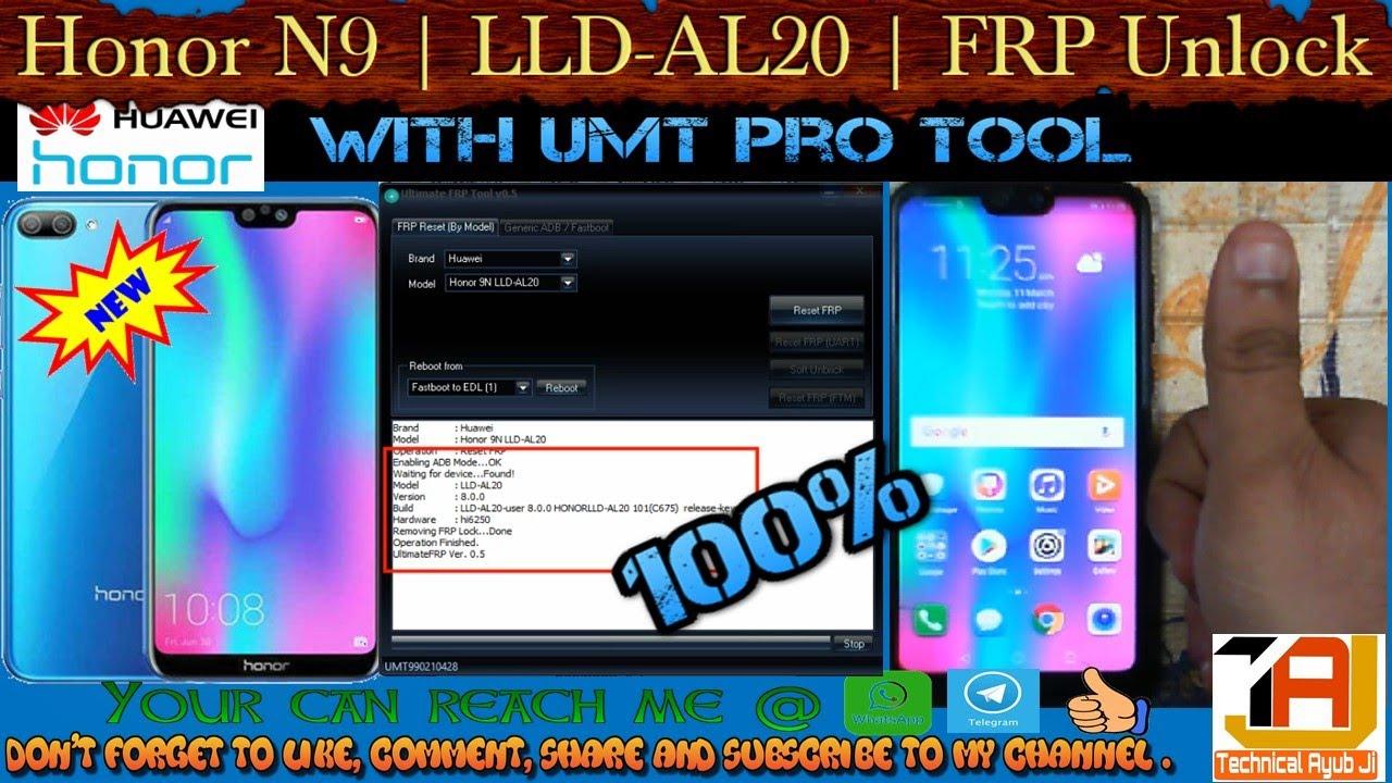 HONOR N9 | LLD AL20 | FRP UNLOCK | UMT FRP T00l | 100% SUCCESS