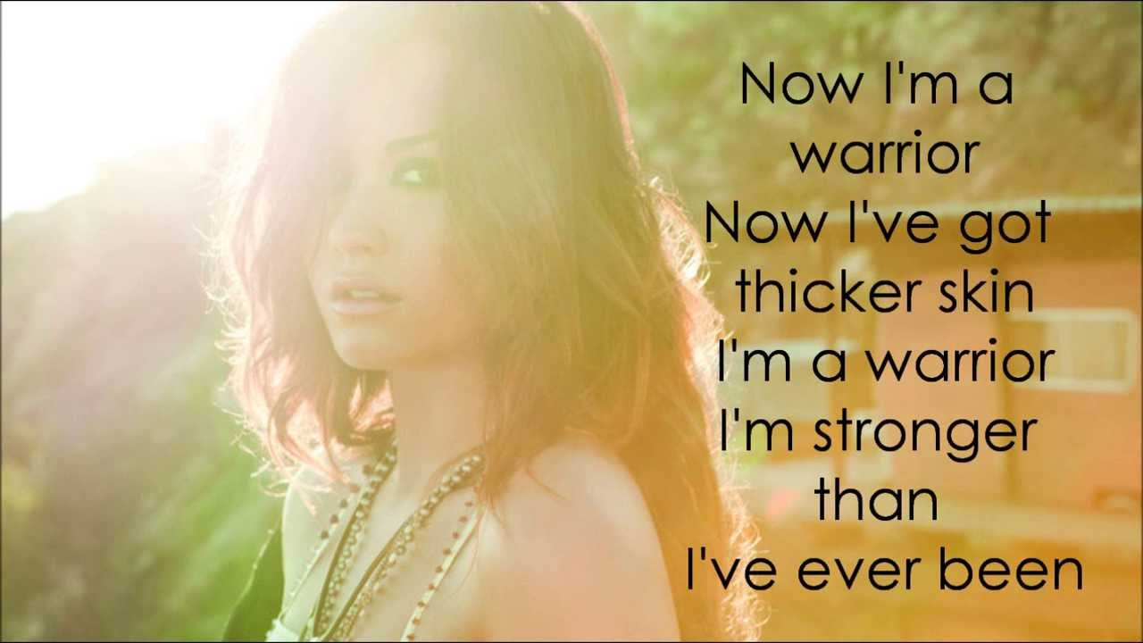 demi lovato warrior lyrics - photo #25