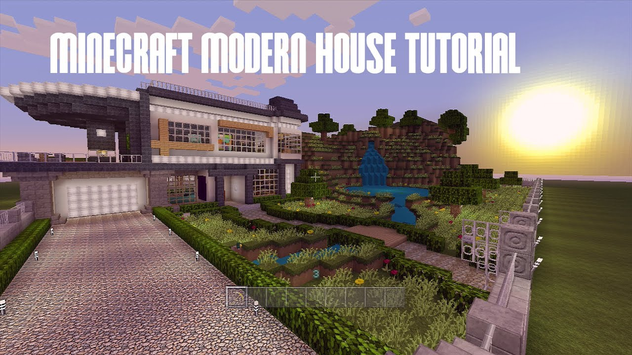 Minecraft Xbox 360 Modern House Tutorial House 1 115 YouTube