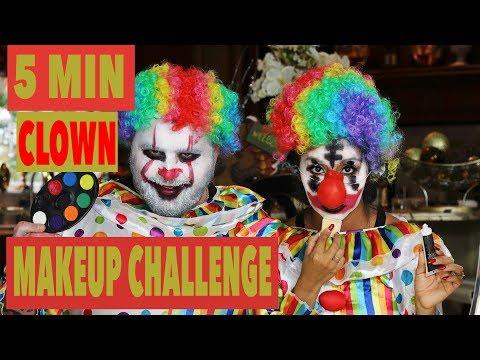 5Minute Clown Makeup Halloween Challenge