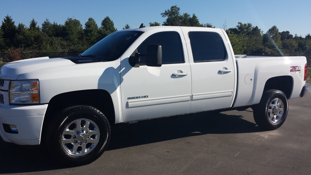 Sold 2013 chevy silverado 2500 crew cab ltz 6 6l duramax white 4x4 gm certified call 855 507 8520 youtube