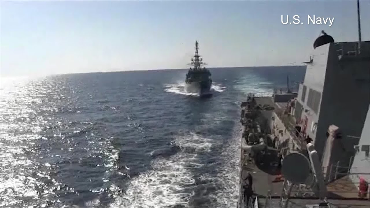Russian warship 'aggressively approaches' US Navy destroyer in Arabian Sea