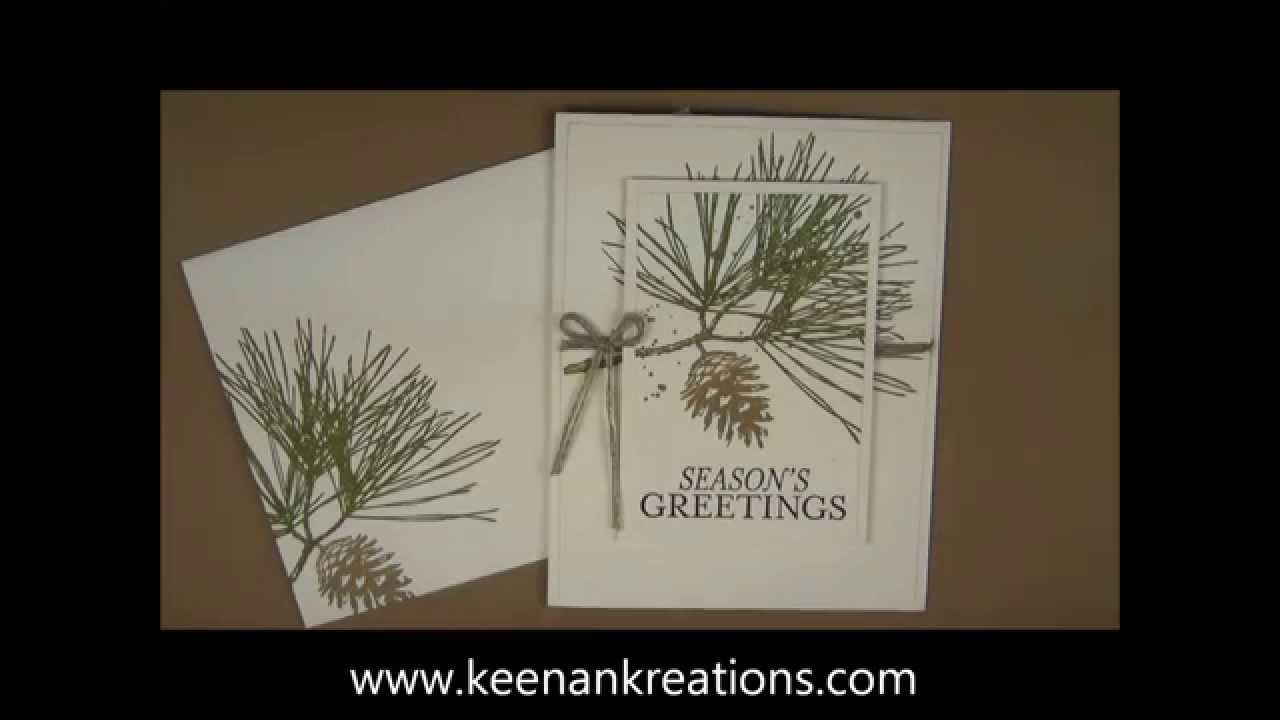 Quick And Easy Christmas Card Using A Double Layer