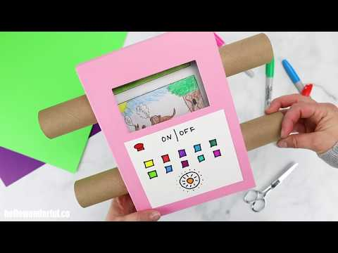 DIY Cardboard TV Craft