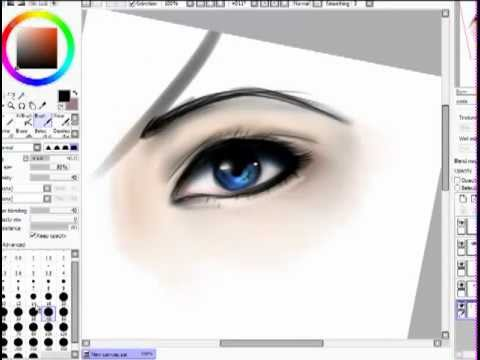 How i drawcolor realistic eyes with paint tool sai youtube how i drawcolor realistic eyes with paint tool sai ccuart Images