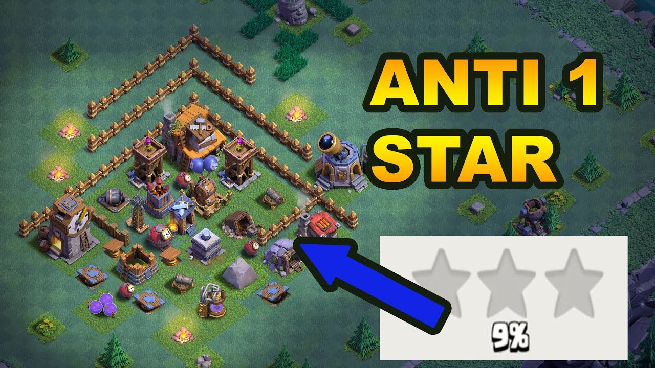 New best anti 1 star builder hall 4 base bh4 with proof Best builder house 4 base