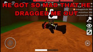 HE GOT SO MAD THAT HE DRAGGED ME OUT!! — (ROBLOX Flee the facility)