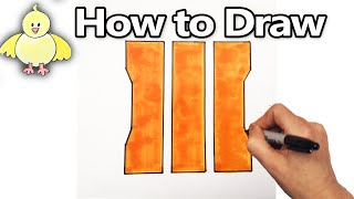 How to Draw the COD BO3 Logo / Emblem  Step by Step (Call of Duty, Black Ops 3)