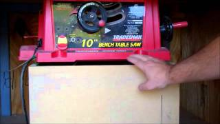 Table Saw Modifications Part 1