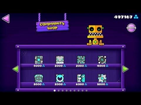 Community Shop + Re-looting Shopkeeper & Scratch's Shop! [Geometry Dash 2.11]
