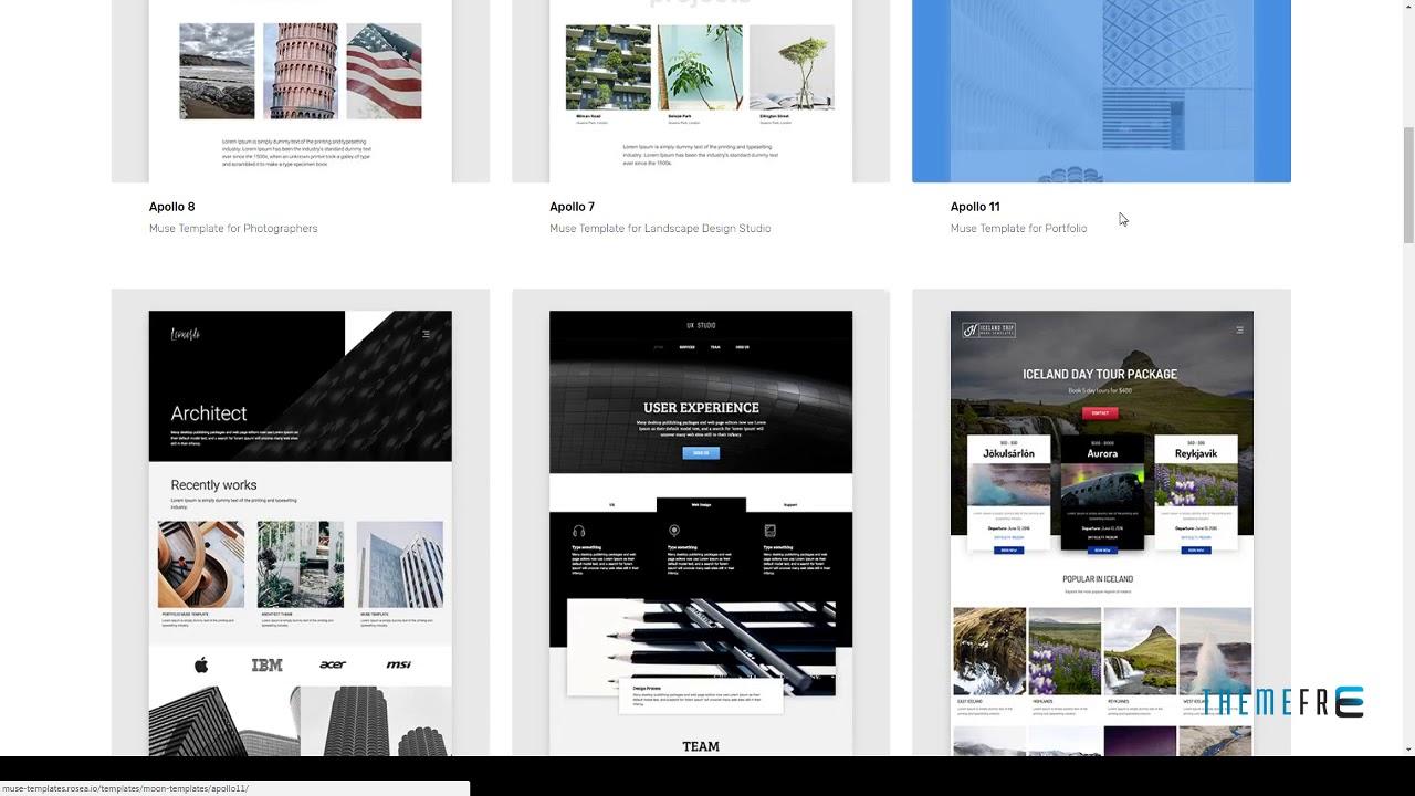 Moon Responsive Portfolio Adobe Muse Templates Leyton Gale Youtube