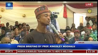 Press Briefing By Prof Kingsley Moghalu Pt 5