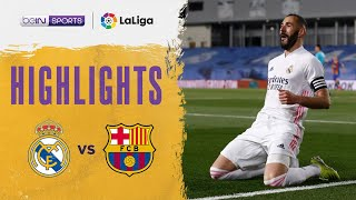 Real Madrid 2-1 Barcelona | LaLiga 20/21 Match Highlights