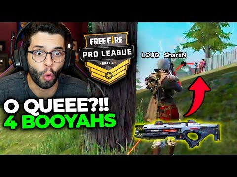 PLAYHARD REAGINDO A LOUD MITANDO NA PRO LEAGUE DE FREE FIRE!!