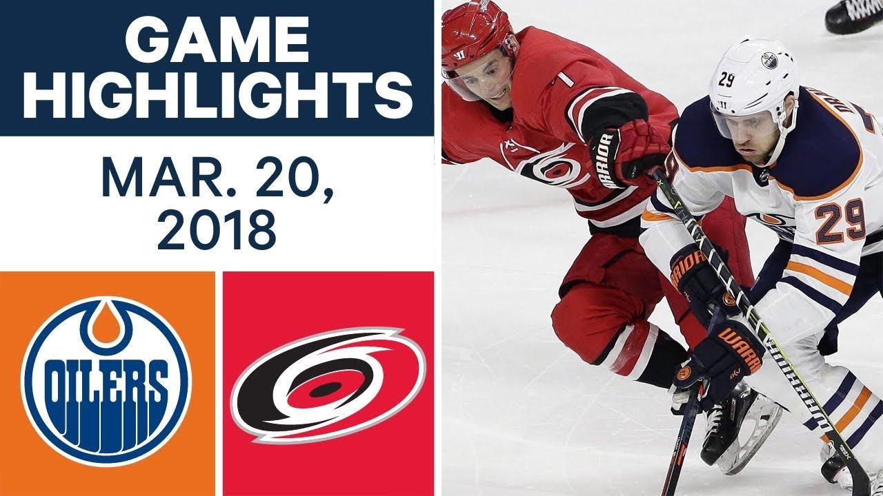 Nhl Game Highlights Oilers Vs Hurricanes Mar 20