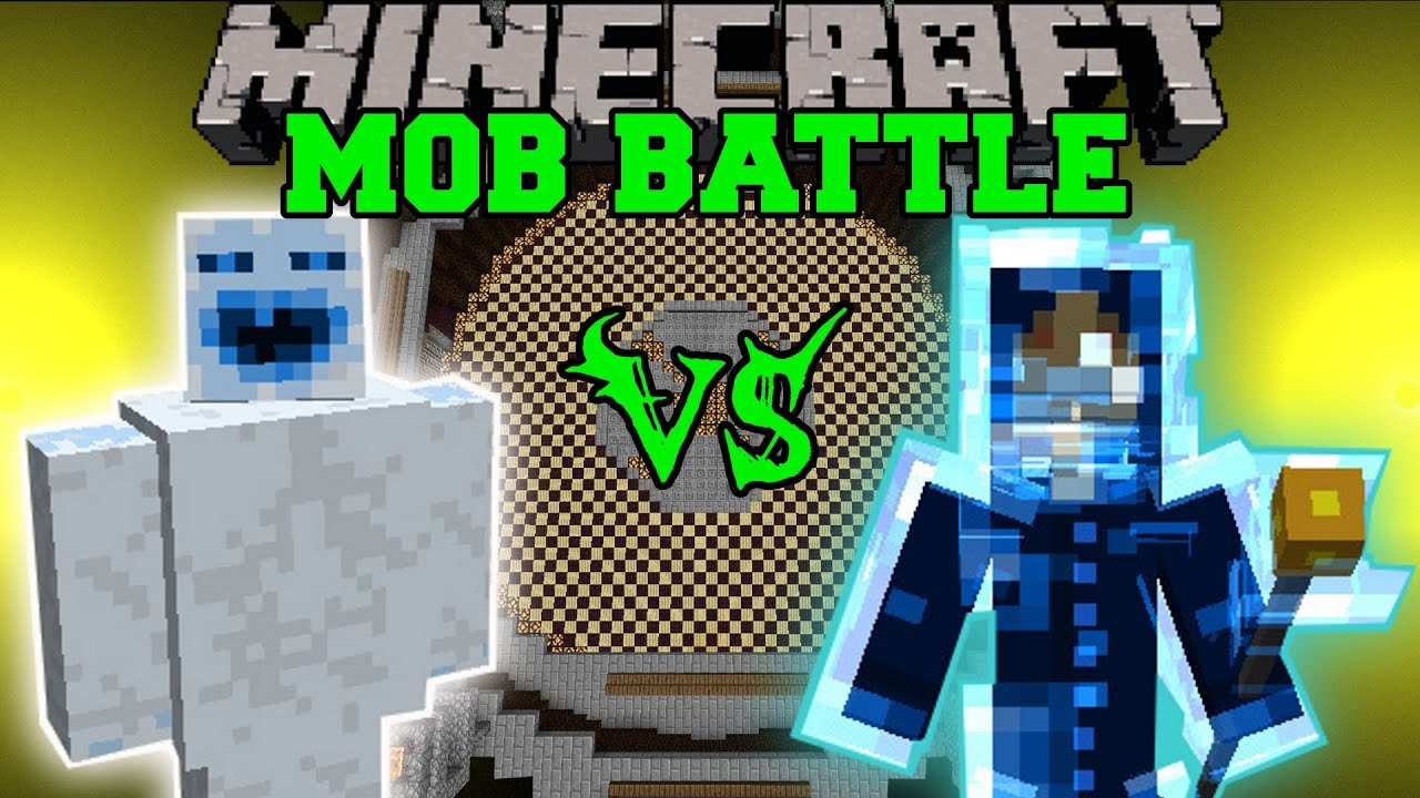 Abominable Snowman Vs Lightning Spirit Minecraft Mob Battles Mods Youtube