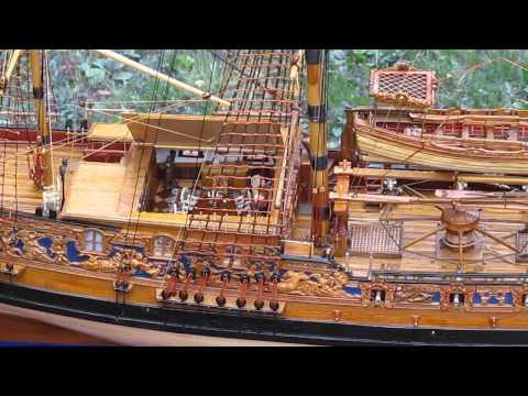 видео: Модель королевской яхты royal caroline 1749 (1)