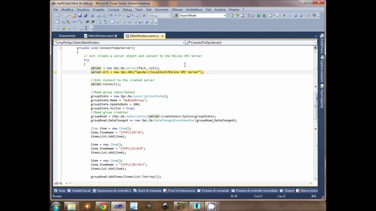 Opc client with C#: an how to video – Mesta Automation