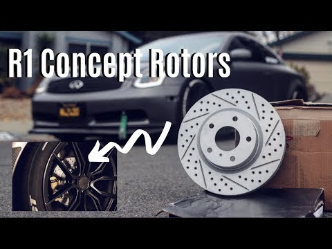 G35 On NEW R1 Concept ROTORS + BeDistinct STICKERS * ONLY A FEW LEFT