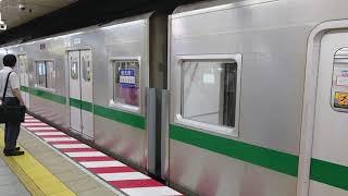 東京メトロ6000系 6102編成 回送運用 霞ヶ関駅通過