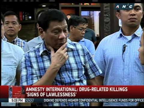 Duterte's war on drugs draws international flak