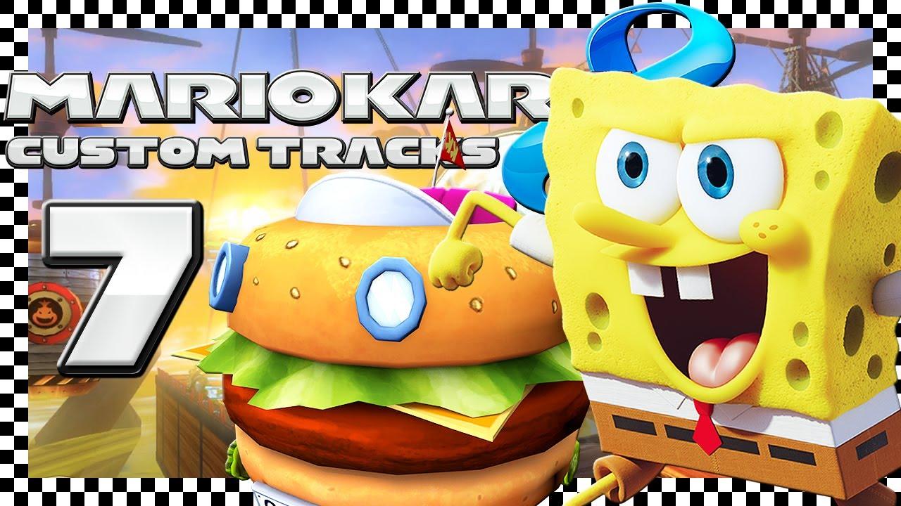 MARIO KART 8 CUSTOM TRACKS # 07 🏁 SpongeBob mit Burgermobil in Sky Arena!