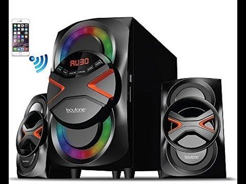 Boytone BT 326F, 2 1 Bluetooth Powerful Home Theater Speaker System, with FM Radio