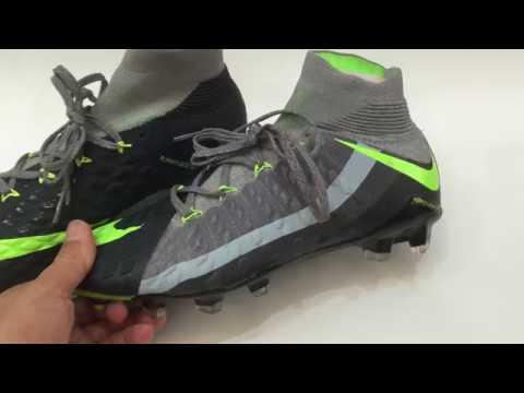 1b95934b3 Nike Hypervenom Phantom III FG Black Volt Dark Grey - YouTube