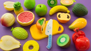 Learning Names of Food for Kids |  Part 2 : Fruit and Vegetables | Velcro Cutting Fruit and Veggies