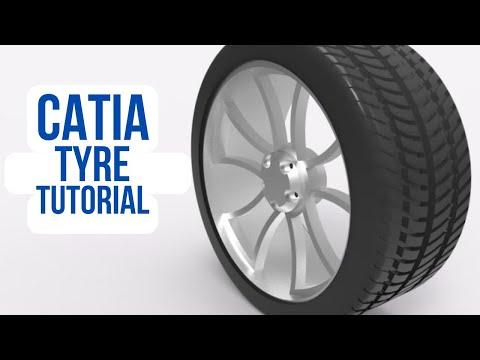 CATIA free basic online training   tyre tutorial for beginners  pneu tutoriel