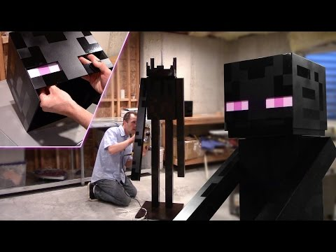 Real Life Full Size Enderman - Woodworking How-to (Minecraft)