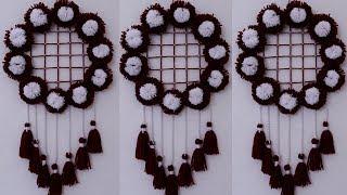 DIY Easy Woolen Wall Hanging Craft Idea !!! DIY ROOM DECOR!! Home Decorative Idea || DIY Projects