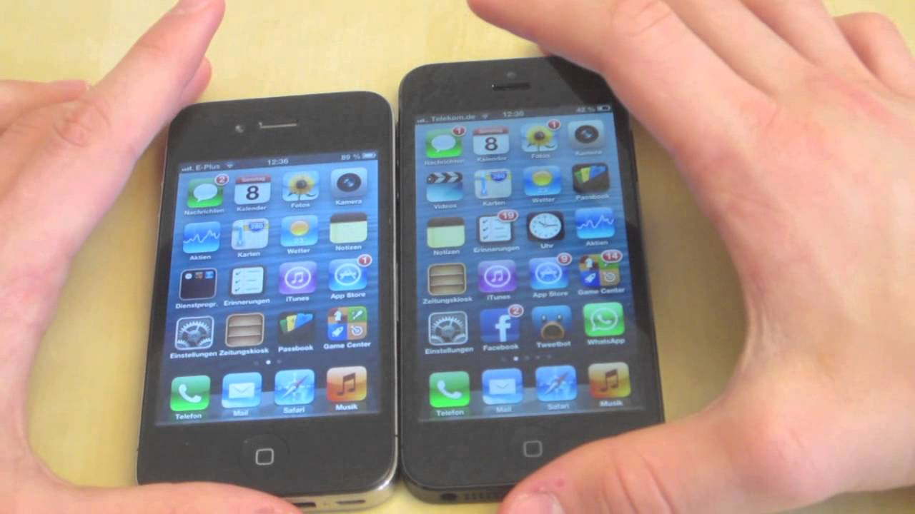iphone 4 vs iphone 5 optischer vergleich iphone 4 4s vs iphone 5 17344