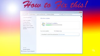 how to fix all windows 7 update error and 0 percent stuck september 2016