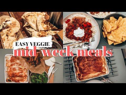 4 EASY VEGETARIAN MEAL IDEAS | MID WEEK SLOW COOKER RECIPES