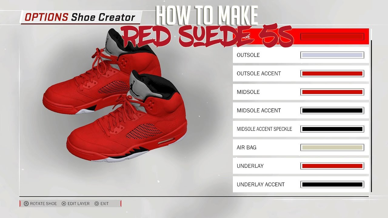 NBA 2K18 Shoe Creator Air Jordan 5