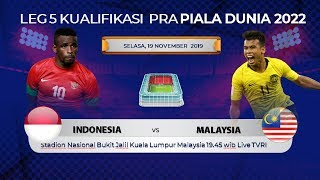JADWAL SIARAN LANGSUNG TIMNAS SENIOR INDONESIA VS MALAYSIA LEG 5 LIVE TVRI MALAM INI