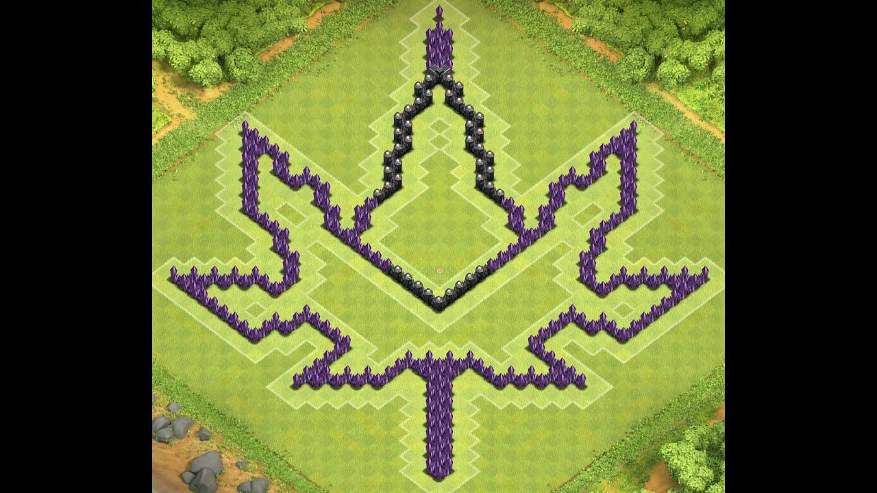 Awesome Cannabis Leaf TH10 Farming Base I Clash of Clans - YouTube