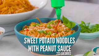 Sweet Potato Noodle Bowl With Peanut Sauce | Cooking Light