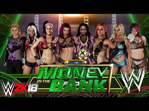 WWE 2K18:WOMEN'S MONEY IN THE BANK FULL MATCH.