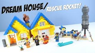 The LEGO Movie 2 Emmet's Dream House/Rescue Rocket! Set Build Review 70831
