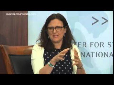 EU Commissioner Dr. Anna Cecilia Malmström Speech