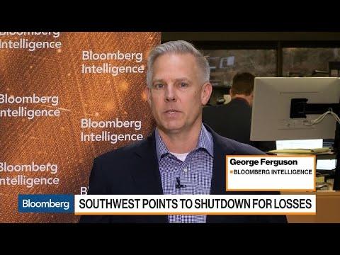 Southwest Air Says U.S. Shutdown Cost $60 Million in 1Q Revenue