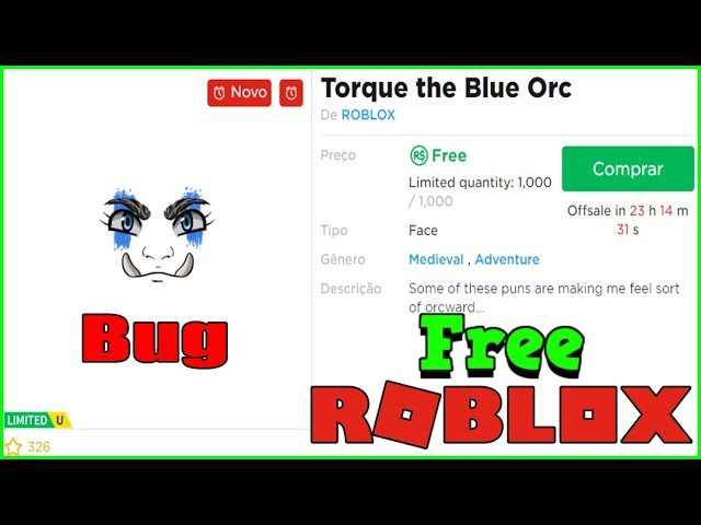 torque the blue orc roblox Bug Face Limited Gratis Torque The Blue Orc Youtube