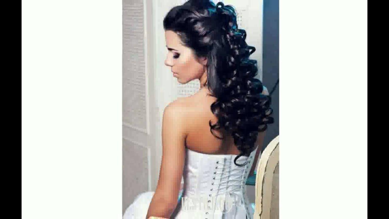 Свадебные Прически На Среднюю Длину Волос Фатой - YouTube