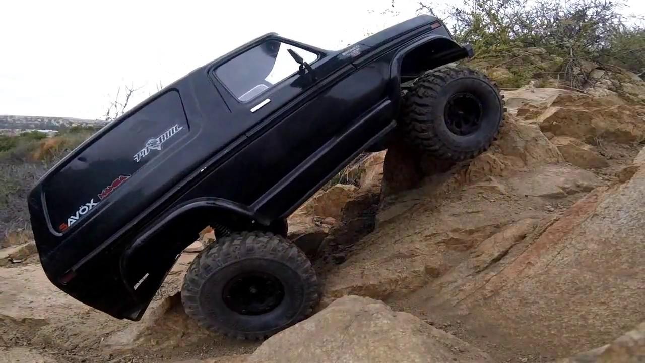 Trx4 Traxxas Bronco Pitbull Rock Beast Xl 1 9 Cc2280kv Mamba X Scale Crawl Test Youtube