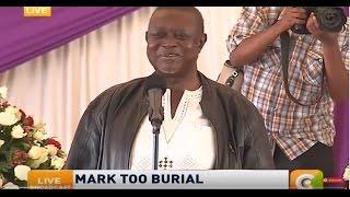 Nominated MP Oburu Oginga condoles  with the family of Mark too