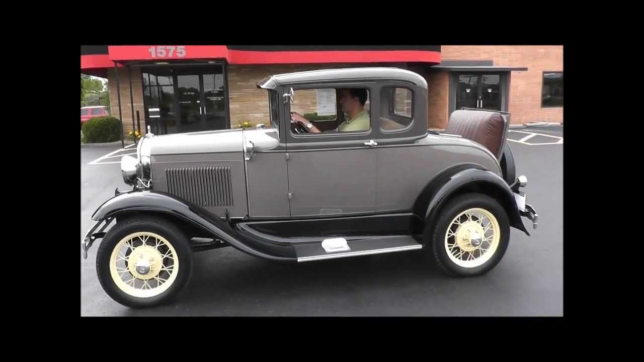 1931 ford model a 5 window rumble seat coupe youtube