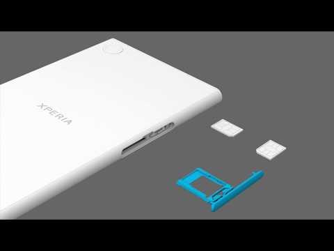 How to insert two SIM cards – Xperia™ XZ Premium Dual SIM