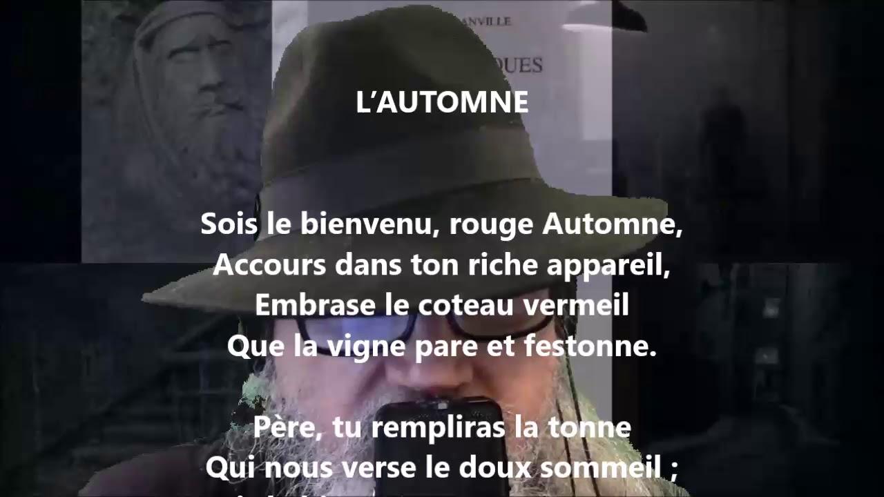 Lautomne Théodore De Banville Lu Par Yvon Jean Youtube